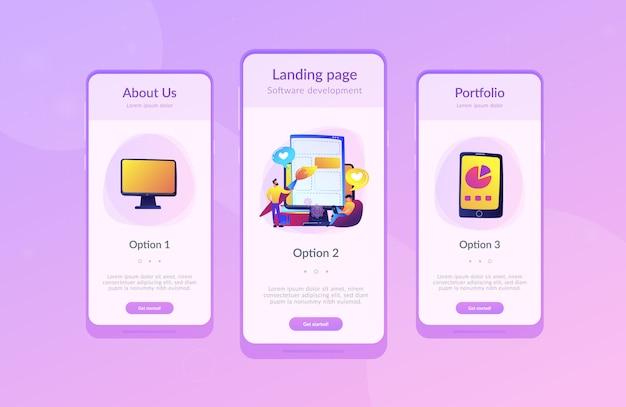 Front-end-entwicklung es app-schnittstelle vorlage
