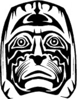 Frontal stammes afrikanische maske