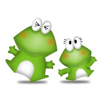 Frosch cartoon süße tiere wildes haustier barbie charakter puppe süß modell emotion art