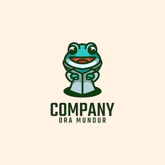 Frosch logo maskottchen