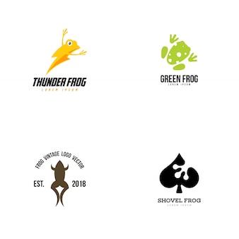 Frosch-logo-sammlung