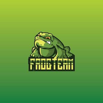 Frosch logo spielesport