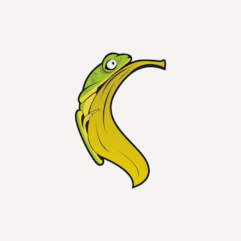 Frosch-logo Premium Vektoren