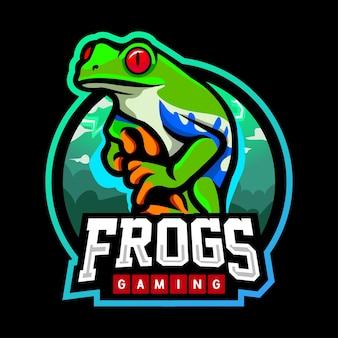 Frosch-maskottchen-esport-logo-design