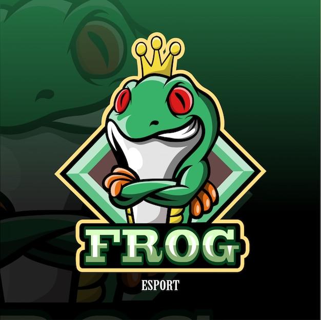Frosch maskottchen esport logo.