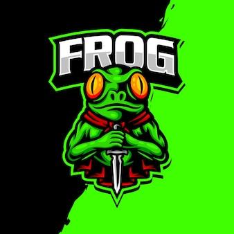 Frosch maskottchen logo esport gaming