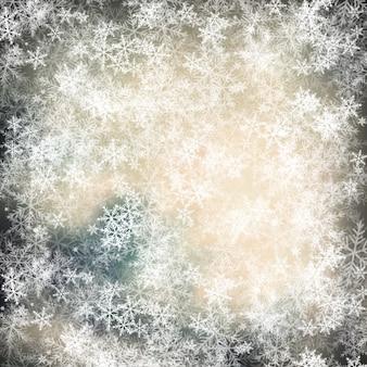Frost-hintergrund mit schneeflocken