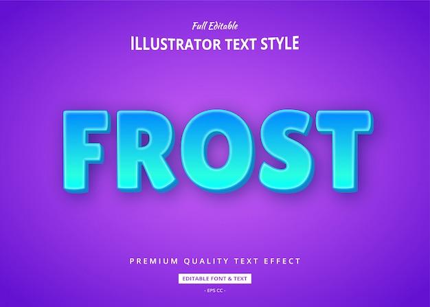 Frostblauer textstil-effekt