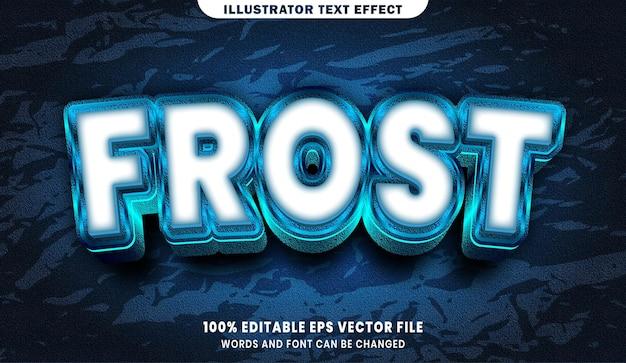 Frosttext, bearbeitbarer texteffekt im schriftstil