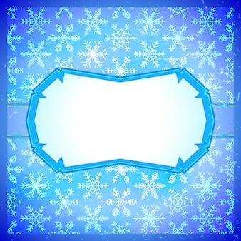 Frozen frame mit schneeflocken