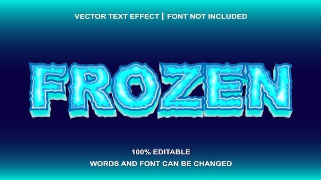 Frozen text style bearbeitbarer texteffekt