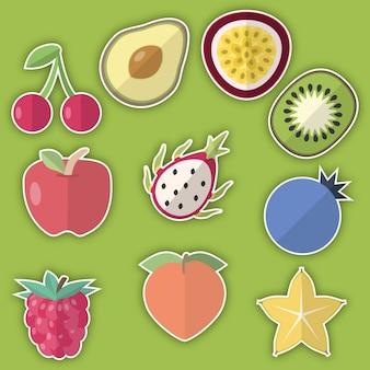 Frucht-aufkleber