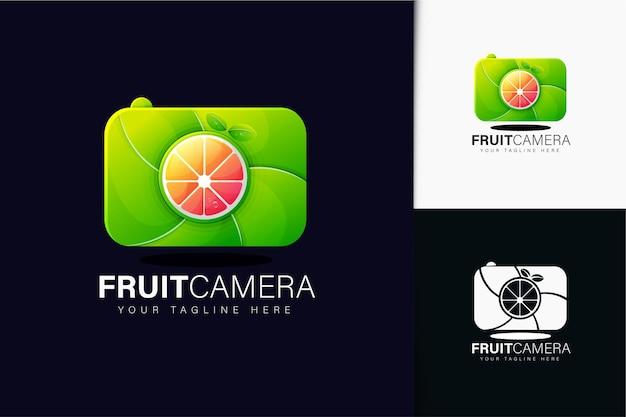 Fruchtkamera-logo-design mit farbverlauf
