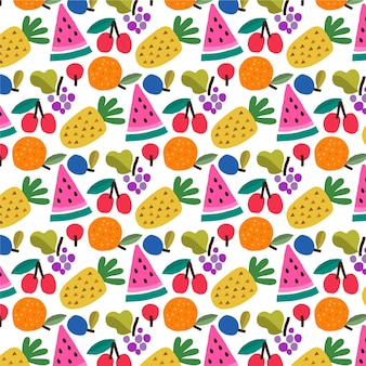 Fruchtmuster mit ananas