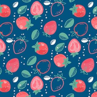 Fruchtmuster mit erdbeeren