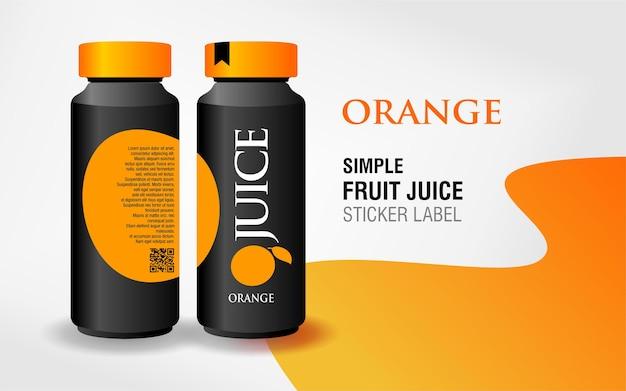 Fruchtsaft-etikettendesign
