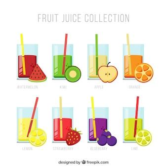Fruchtsaft sammlung