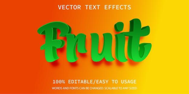 Fruchttext-effektschablone