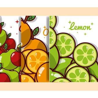 Früchte banner ernährung diät bio
