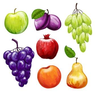 Früchte icons set