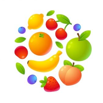 Früchte im kreis