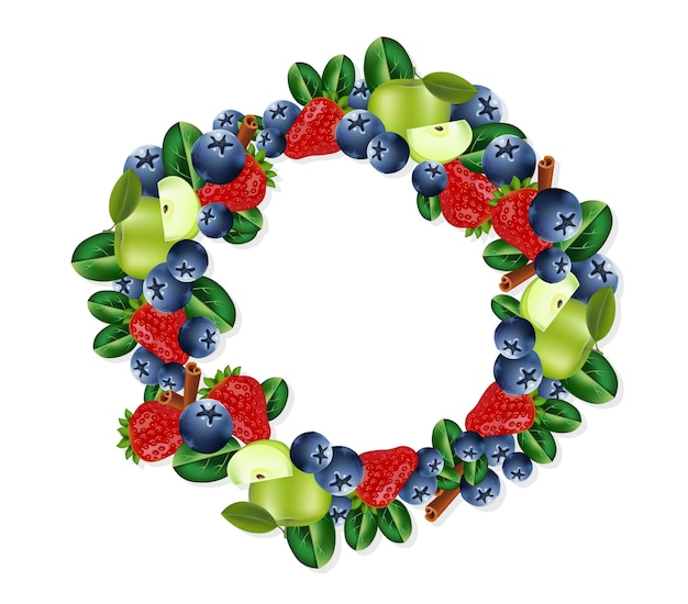 Früchte kranz rahmen
