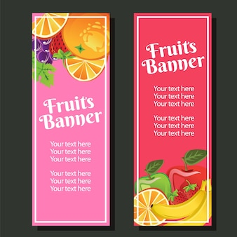 Früchte vertikale banner