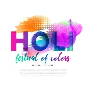 Frühjahr holi festival bunten hintergrund-design