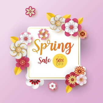 Frühling banner verkauf