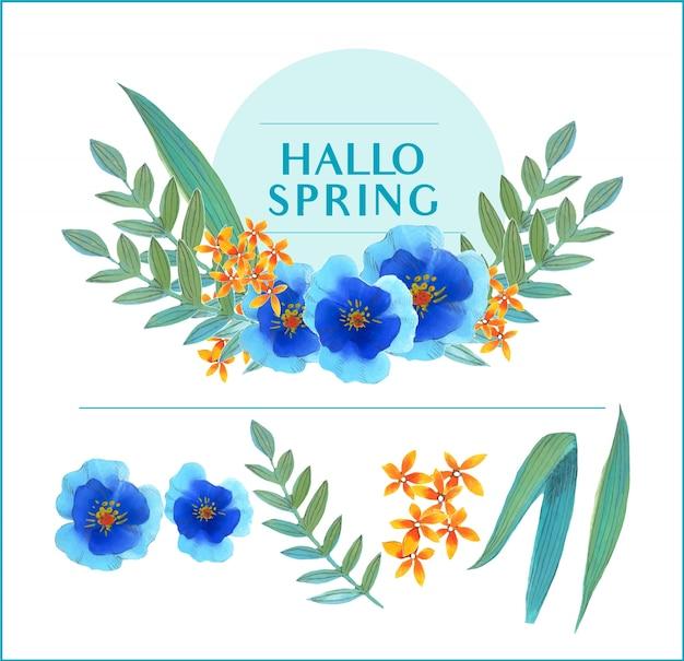 Frühling blumen aquarell