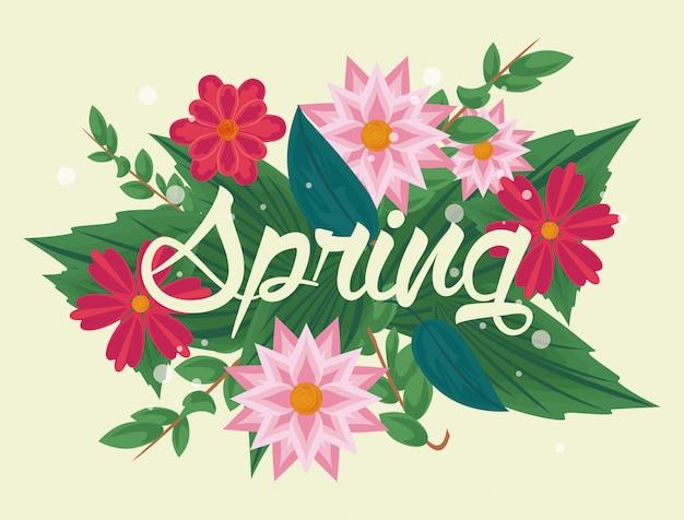 Frühling blumen banner