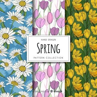 Frühling blumenmuster pack
