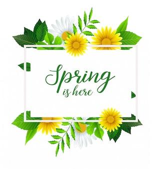 Frühling ist hier bannervorlage