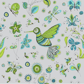 Frühling und sommer kritzeleien vogel