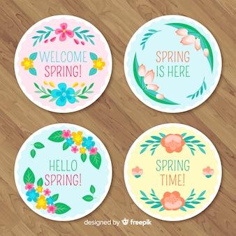 Frühling verkauf abzeichen sammlung