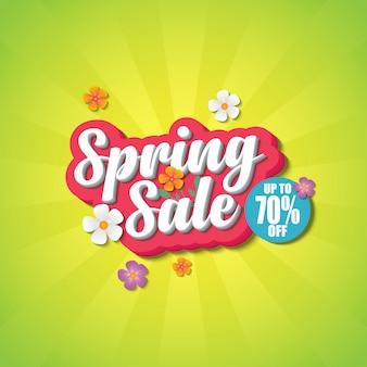 Frühling verkauf banner designvorlage