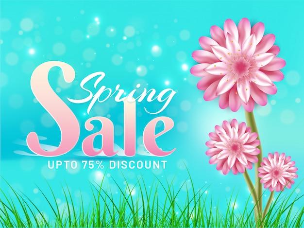 Frühling verkauf banner oder poster design