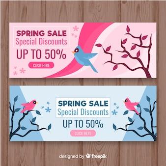 Frühling verkauf banner