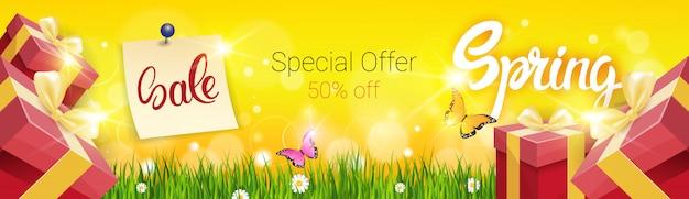 Frühling verkauf einkaufen sonderangebot urlaub banner