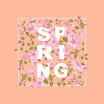 Frühling verkaufskonzept.