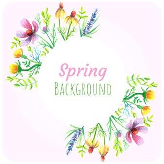 Frühling wildflower hintergrund