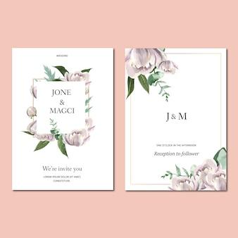 Frühlings-einladungskarte mit blumenahorn und blättern. frische botanisch, dankeskarte, muttertagsblume