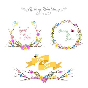 Frühlings-hochzeits-kranz-sammlung