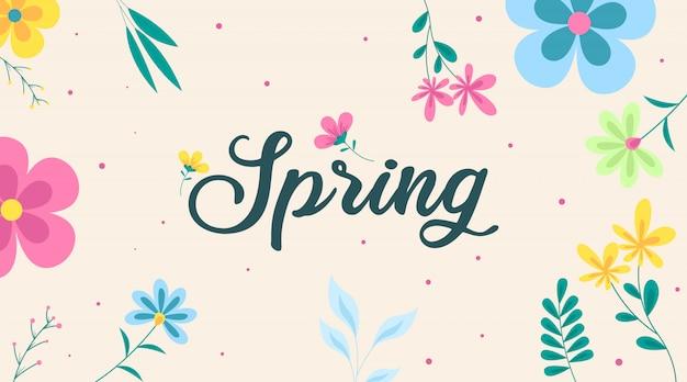 Frühlings-illustration. blumen des frühlings