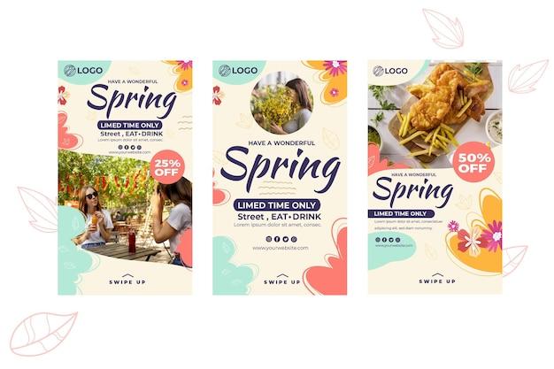 Frühlings-instagram-geschichten