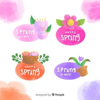 Frühlings-label-sammlung
