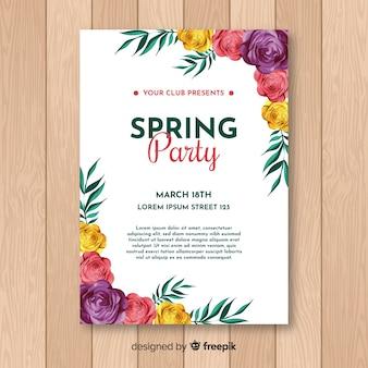 Frühlings-party-flyer