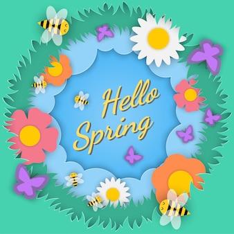 Frühlings-saison-konzept