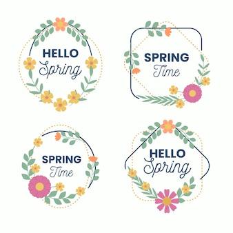 Frühlingsabzeichen sammlung