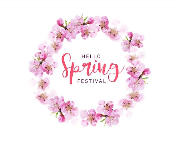Frühlingsblühender kirschhintergrund